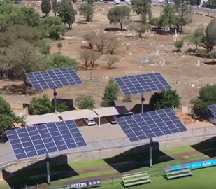DEGER D100 Dual Axis Solar Trackers- Central University of Technology / South Africa